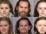 In the latest series of mugshots released last week by the Multnomah County Sheriff's Office in Oregon, the images show how hard drugs can ruin the human face.