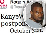 Postponed! Kanye West suddenly cancels his Canadian concert 'due to unforeseen circumstances'
