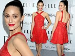 Emmy Rossum is red hot at Elle Women in Hollywood awards