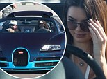 Daredevil Kendall Jenner takes $2.5M 'hyper' sports car for a spin... and father Bruce goes along for the ride