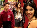 Kylie Jenner, 16, acts her age for a change as she tucks into burgers and milkshakes with Kendall and Jaden Smith