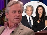 'I'm very hopeful': Michael Douglas reveals relationship with estranged wife Catherine Zeta-Jones is on 'the up and up' during Jay Leno appearance
