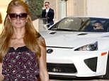 Paris Hilton shops at Barney's new York in Beverly Hills on Monday