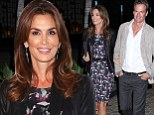 Model Monday: Cindy Crawford showed off her svelte shape in a patterned frock to attend the launch party for Brian Edwards' book Enter Miss Thang at Cafe Habana in Malibu, California on Monday