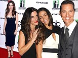 Sandra Bullock wows in LBD at Hollywood Film Awards as she shares a joke with ex Matthew McConaughey and his wife
