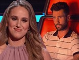 In for the steal: Adam Levine pushed his red button to steal former teen model Lina Gaudenzi after she lost her battle round to remain on Christina Aguilera's team