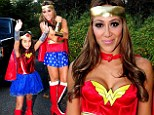 A pair of Wonder Women! Terrifically toned Melissa Gorga and her daughter wear matching super-heroine costumes