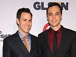 In love: Big Bang Theory star Jim Parsons (right) opened up about his relationship with boyfriend Todd Spiewak at the GLSEN Respect Awards in Beverly Hills on Friday