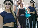 Practice makes perfect! Emma Slater and Peta Murgatroyd show off fab abs as they head to Dancing With the Stars rehearsal