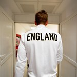 Harry Kane of England walks down the tunnel