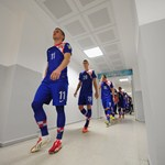 Ante Rebic of Croatia walks down the tunnel.