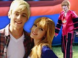 It's a Disney reunion for Bella Thorne and Ross Lynch as they team up to film a yoghurt commercial in Los Angeles