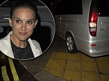 Natalie Portman's driver reverses onto pavement forcing fans and photographers to move quickly to one side as she's picked up from Thor 2 after party