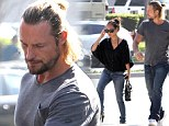 New love interest? Gabriel Aubry was seen with a mystery female on Monday in Los Angeles, California