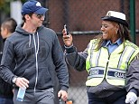 Gotcha! A lollipop lady spotted Hugh Jackman in New York and jumped at her chance to take a photo of the Hollywood star