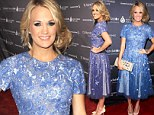 Blown Away! Carrie Underwood dazzles in embellished gown as she receives the 2013 Artist Achievement Award at the TJ Martell Foundation 38th Honors Gala