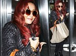 You don't need those to look skinny! Snooki hides behind giant bags as she promotes new season of reality show
