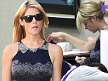 Twilight star Ashley Greene kept herself in tip top condition with a visit to her salon in Beverly Hills on Wednesday.