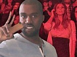 There's a certain ring to it! Kanye West calls Kim Kardashian 'my fiancee' for the first time as he dedicates song to his bride-to-be in concert after marriage proposal