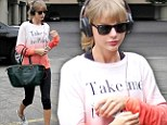 Back to the day job! Taylor Swift heads to LA dance studio just one day after returning from South African set of The Giver