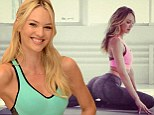 'Stretch it out': Candice Swanepoel is bootylicious in skintight workout gear in new Instagram snap
