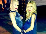 My bump's bigger than yours! Expectant mothers Rachel Zoe and Gwen Stefani compare their blossoming pregnant forms