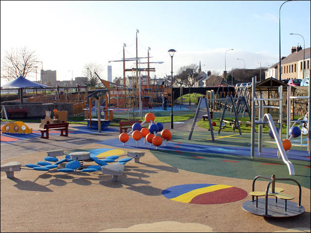 marine gardens play park in carrickfergus
