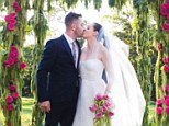A kiss to be remembered: The 40-year-old kissed her new husband Davey Detail