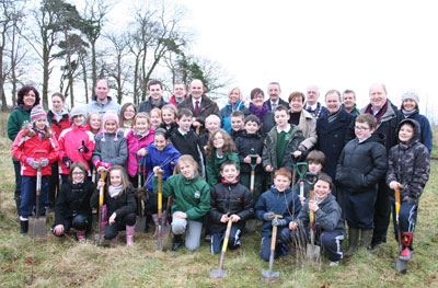 Event in January 2011 at Bashfordsland Wood in Carrickfergus