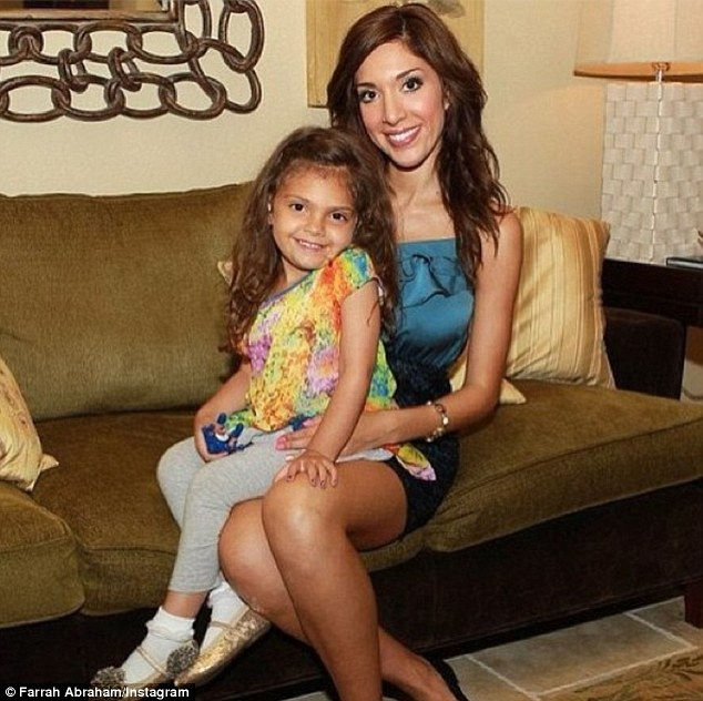 Young parent: Farrah is mother to her four-year-old daughter Sophia