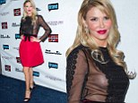 What a difference a day makes! Brandi Glanville goes from supermom to side-boob at Real Housewives of Beverly Hills party after a day in the pumpkin patch