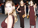 Too short, too shiny! Kate Upton commits fashion faux pas wearing ill-fitting glittery dress to style awards