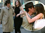 Stephanie Seymour, 45, tries on sexy lingerie for billionaire husband at Agent Provocateur (before sharing cheeky kiss on sidewalk)