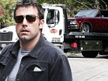 Having a breakdown! Ben Affleck has classic car towed before heading out with daughters for outing in Los Angeles