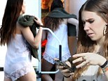 Racy number: Zosia Mamet's acting career hots up as she gets back to work on her new film Shiva and May in which she plays a sex worker