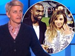 'That's bigger than their baby': Ellen DeGeneres compares Kim Kardashian's 15-carat engagement ring to her daughter North West in hilarious monologue
