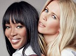 Longtime friends: Nineties supermodels Naomi Campbell and Claudia Schiffer have reunited for a new Tommy Hilfiger campaign, aimed at raising awareness for breast cancer