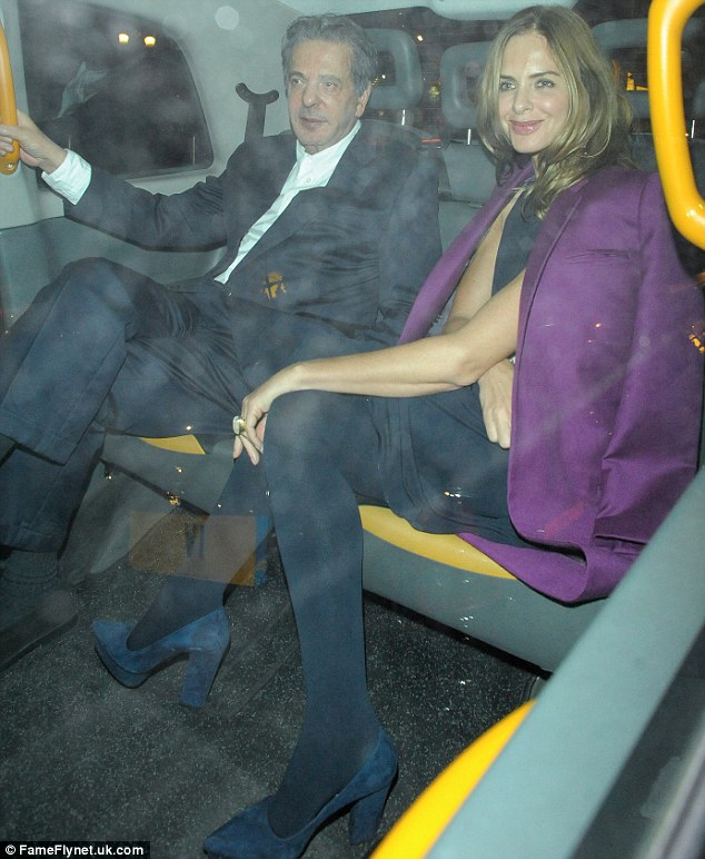 The menu's not that good! Trinny Woodall and Charles Saatchi enjoyed their seventh date night at Scott's in Mayfair on Friday night in just one month