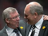 Assistant: Sir Alex Ferguson and Martin Jol enjoy a chat, but they could have been even closer