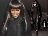 Naomi Campbell looks amazing in leather trousers and fur gillet as she heads out for dinner with French TV execs to discuss new show The Face