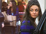 She's got baggage! Mila Kunis carries her own groceries after shopping trip