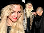 Ashlee Simpson wears leopard coat on 'wild' night out with boyfriend Evan Ross (and don't they make a pur-fect couple)