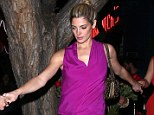 Helping hand: Ashley Greene joined her boyfriend Paul Khoury along with other friends for a fun night out at Hooray Henry's nightclub in West Hollywood, California Thursday nigh