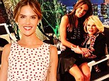The odd couple: Alessandra Ambrosio sits on Joan Rivers' lap during her appearance on Fashion Police