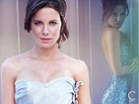 Last Days of Disco star Kate Beckinsale bares her back in sexy blue-sequin halter dress for C Magazine