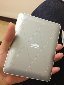 Please note: The 'White' Kobo Mini has a silver snapback.  At first I thought the sales associate handed me the wrong colour.