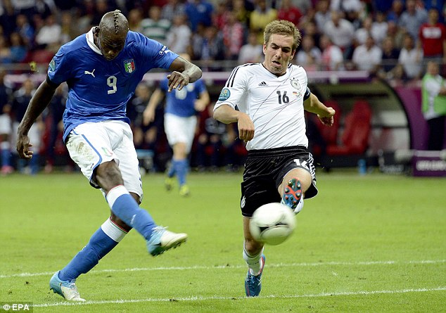 Thrived: Mario Balotelli was key for Italy at Euro 2012
