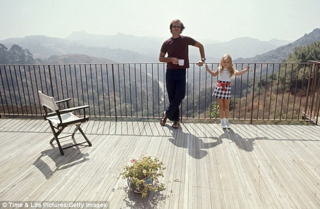 Tame: when celebrities weren't partying at Nicholson's home, he spent quieter times with his daughter Jennifer