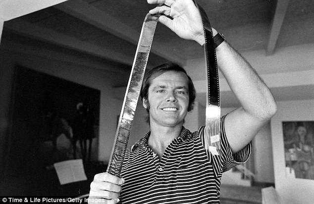 Dedicated: During many of the wild parties, Nicholson would lock himself in a room and work on his screenplays
