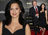 Hilaria Baldwin shows off fabulous figure in plunging top as she joins husband Alec at HBO party